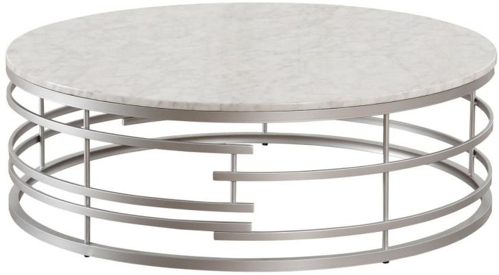 Coffe Table ~ 3608Sv 01Xl Round Silver Coffee Table Photo Within Silver Orchid Bardeen Round Coffee Tables (View 13 of 25)