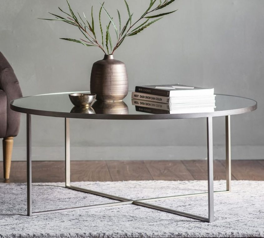 Coffee Table Design: Buy Gallery Direct Torrance Silver Within Silver Orchid Olivia Chrome Mirrored Coffee Cocktail Tables (View 25 of 25)