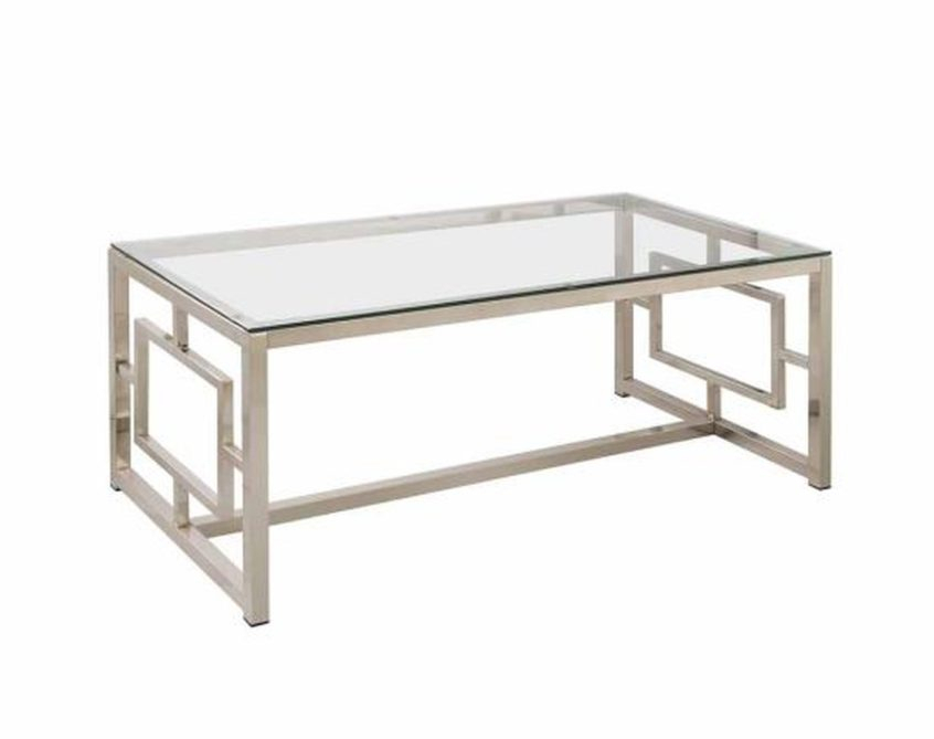 Coffee Table Design: Coffee Tables Ideas Silver And Glass Intended For Coaster Company Silver Glass Coffee Tables (Image 15 of 25)