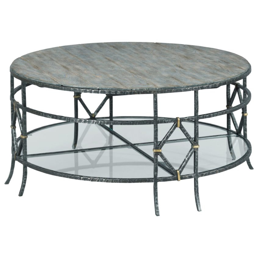 Coffee Table Design: Kincaid Furniture Trails 901R Monterey For Carbon Loft Heimlich Pewter Steel/glass Round Coffee Tables (View 23 of 25)