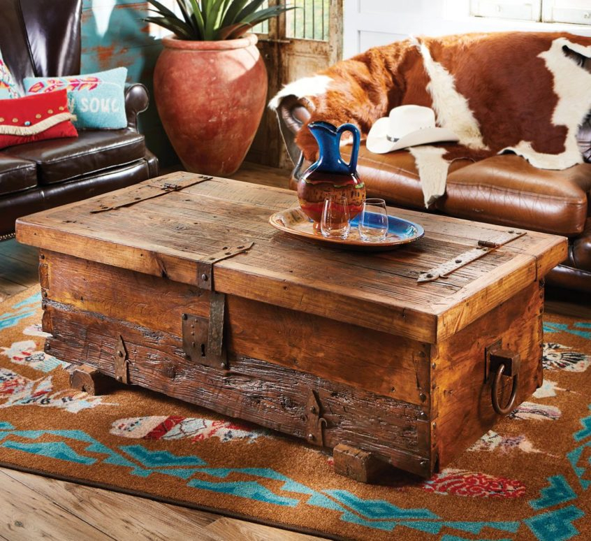 Coffee Table Design: Old West Rustic Coffee Table Round Diy In Carbon Loft Fischer Brown Solid Birch And Iron Rustic Coffee Tables (View 23 of 25)
