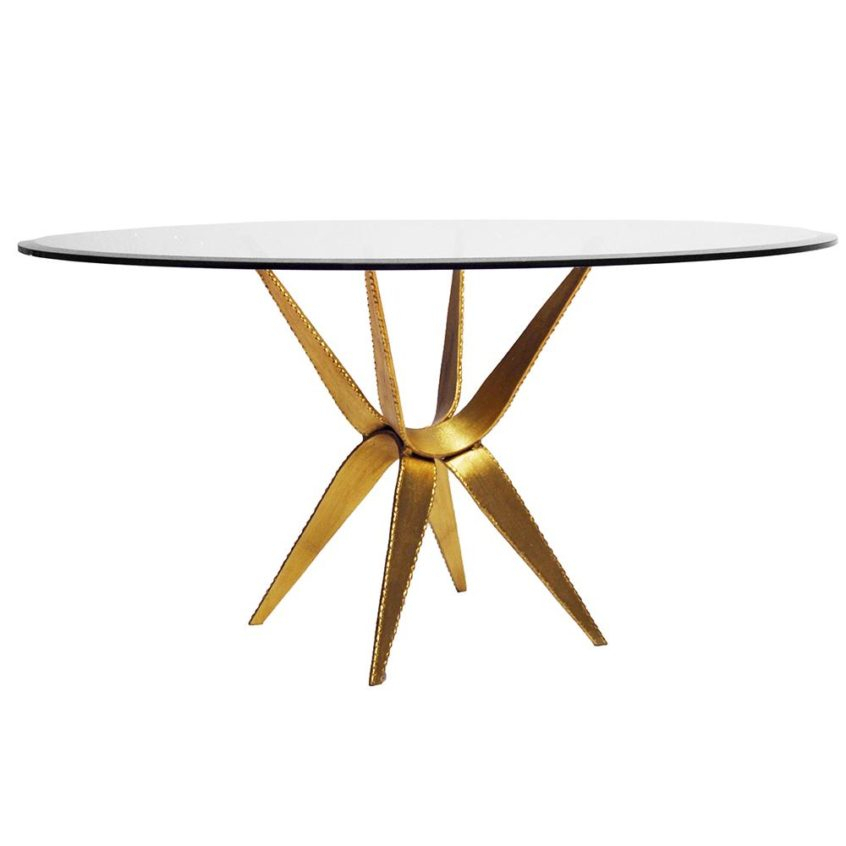 Coffee Table Design: Worlds Away Round Coffee Table With In Silver Orchid Ipsen Round Coffee Tables With X Base (Image 6 of 25)