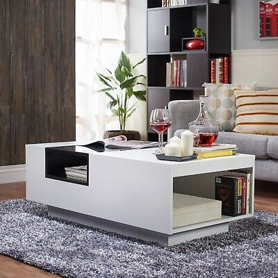 Coffee Tables For Living Room Modern Glass Top Best White With Storage Rectangle | Ebay With Strick & Bolton Jules Chrome And Glass Coffee Tables (View 25 of 25)