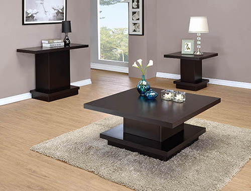 Coffee Tables Regarding Coaster Company Silver Glass Coffee Tables (Image 16 of 25)