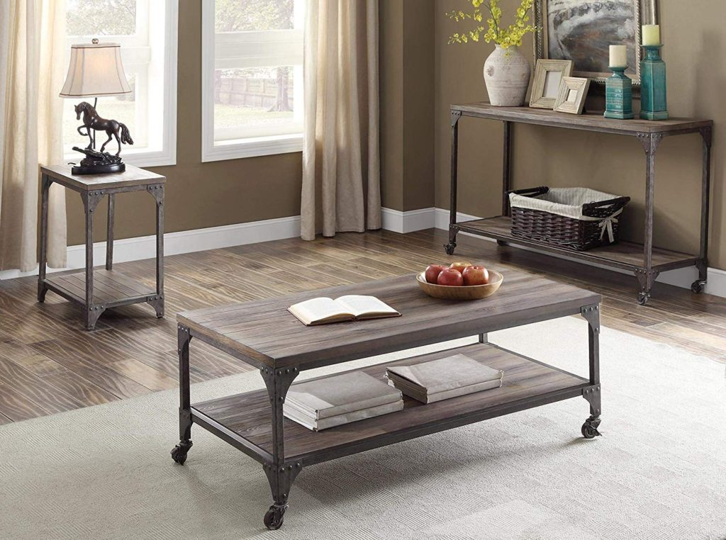 Coffetable ~ Uncategorized Weathered Coffee Table Photo With Regard To Furniture Of America Charlotte Weathered Oak Glass Top Coffee Tables (Image 8 of 50)