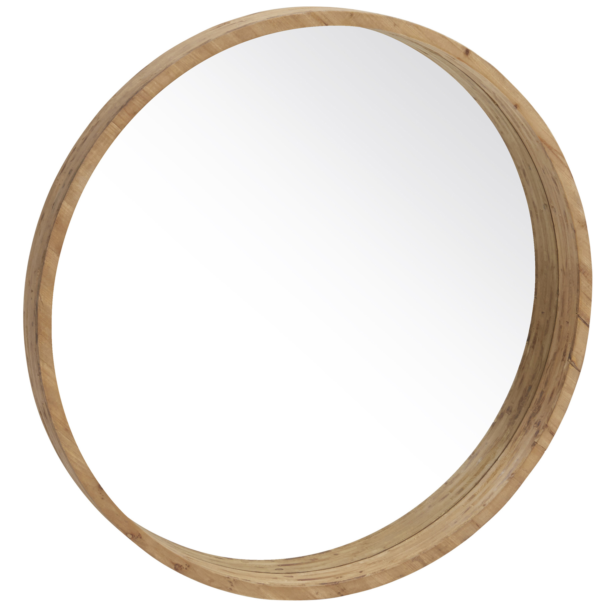 Colton Round Wooden Mirror Regarding Colton Modern & Contemporary Wall Mirrors (Photo 10 of 20)
