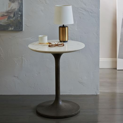 Concrete Pedestal Side Table – Next To Sofa (View 12 of 25)