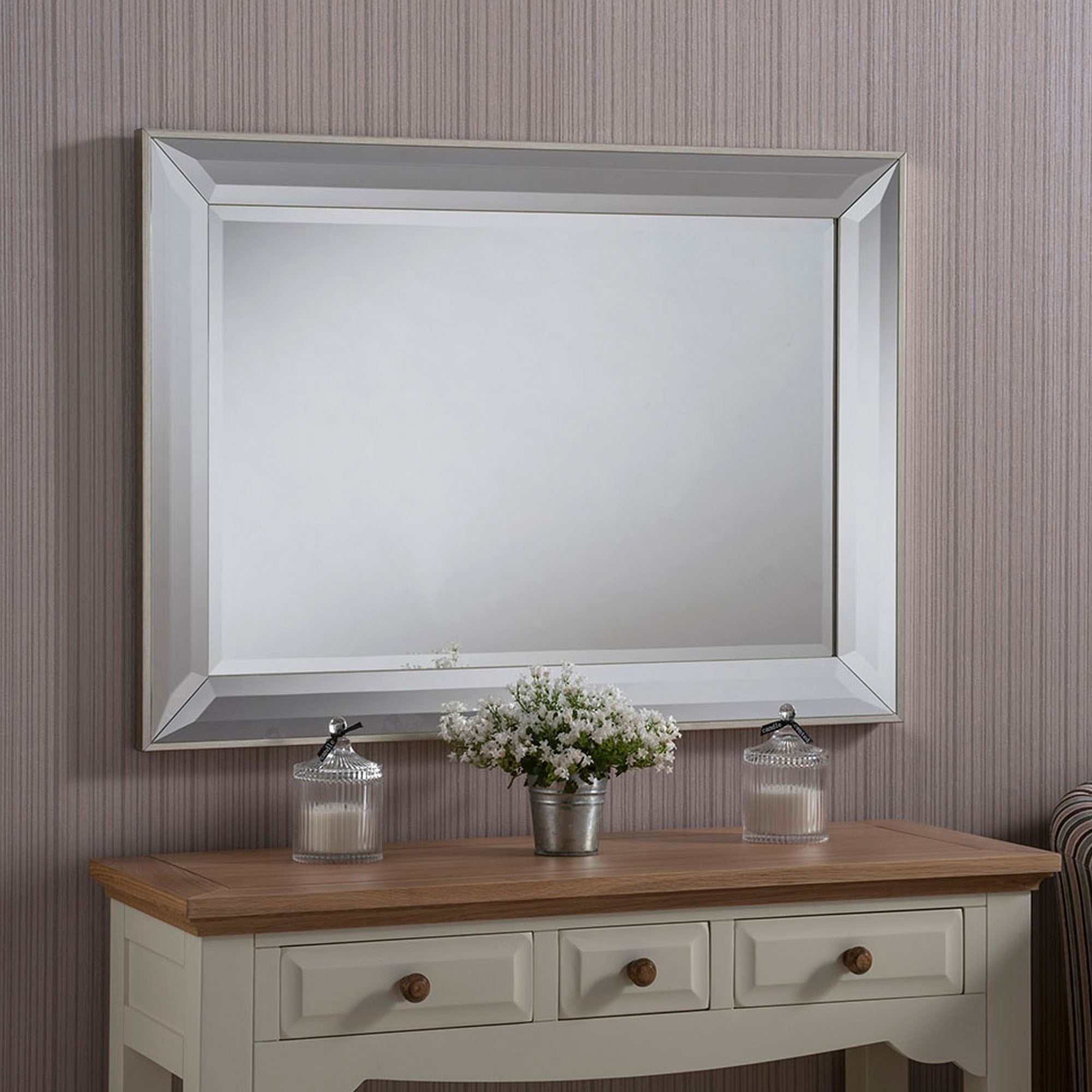 Contemporary Beveled Mirrored Wall Mirror Pertaining To Modern & Contemporary Beveled Wall Mirrors (View 14 of 20)
