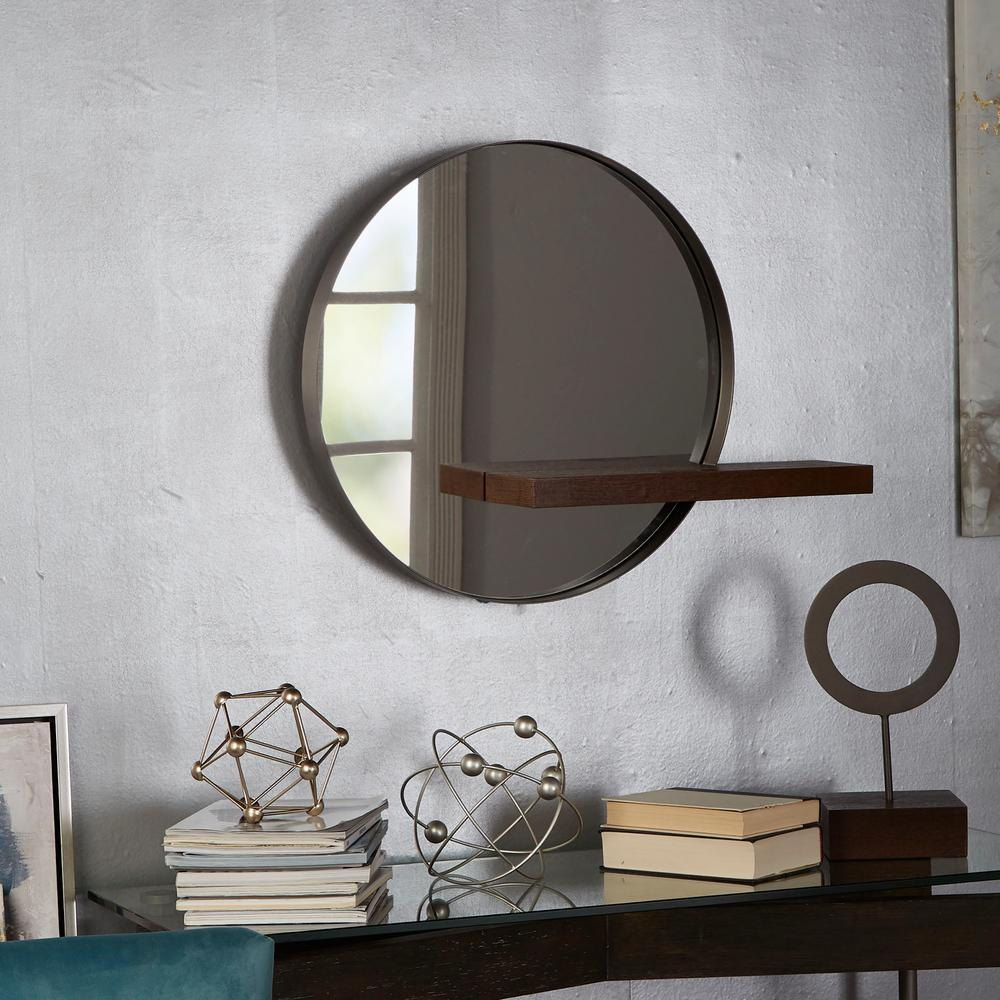 Contemporary Round Pictures Dining Grey Art Decor Inside Industrial Modern & Contemporary Wall Mirrors (View 11 of 20)