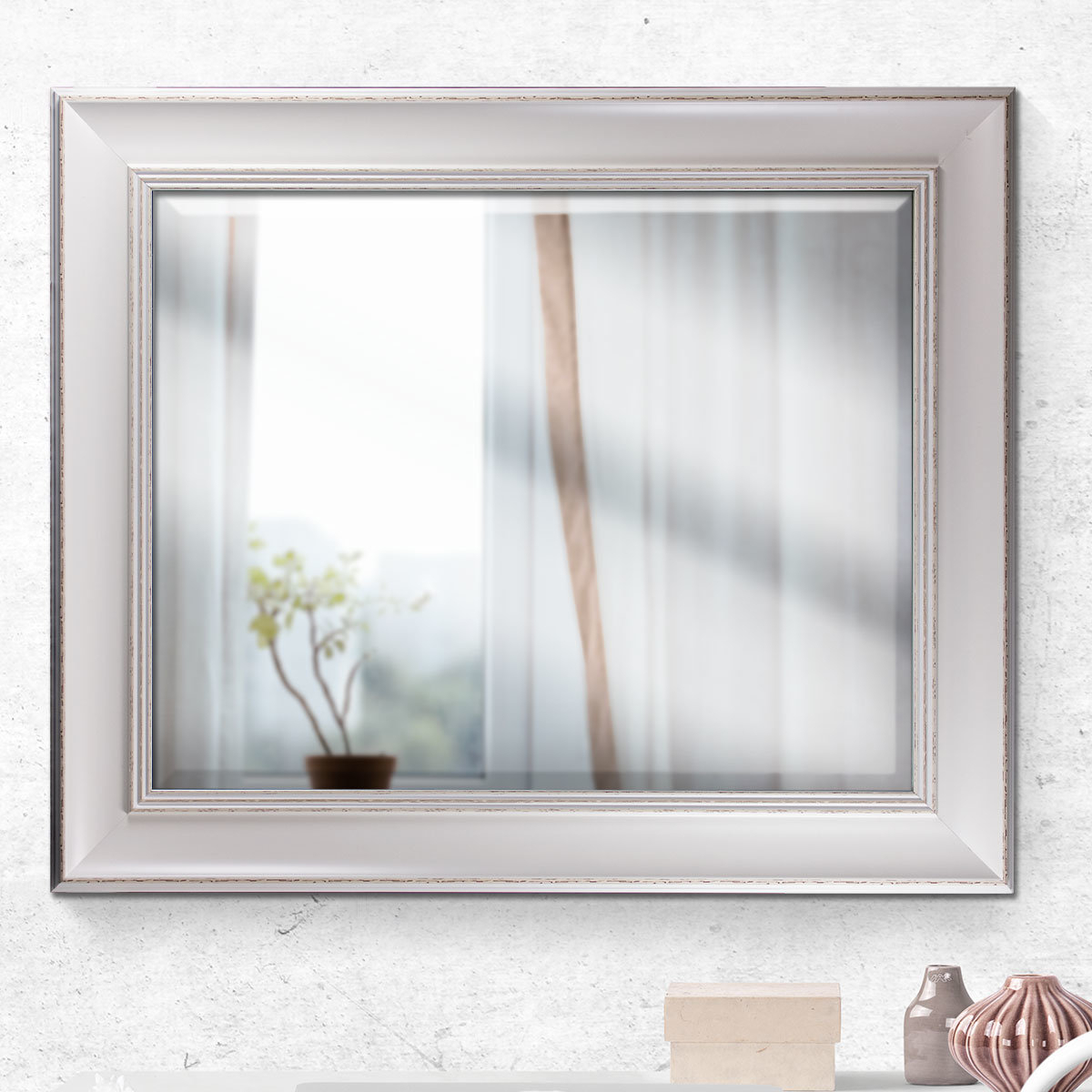 Contemporary Vertical Rectangular Framed Wall Mirror With Regard To Dedrick Decorative Framed Modern And Contemporary Wall Mirrors (Image 4 of 20)