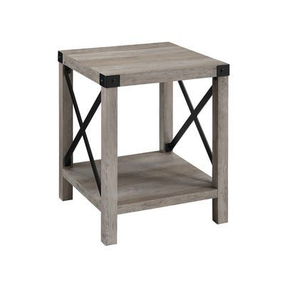 Convenience Concepts American Heritage Three Tier End Table Throughout Copper Grove Liatris Black And Satin Silver Coffee Tables (View 13 of 25)