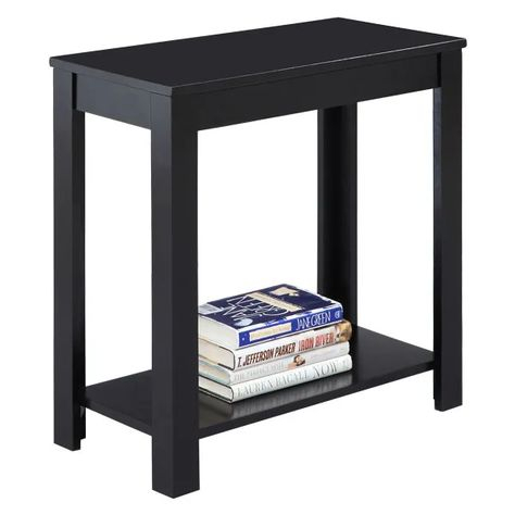 Convenience Concepts American Heritage Three Tier End Table Within Copper Grove Liatris Black And Satin Silver Coffee Tables (View 23 of 25)