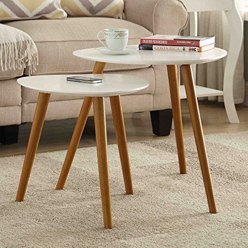 Convenience Concepts Oslo Nesting End Tables | Beautiful Pertaining To Carson Carrington Arendal Guitar Pick Nesting Coffee Tables (View 11 of 25)