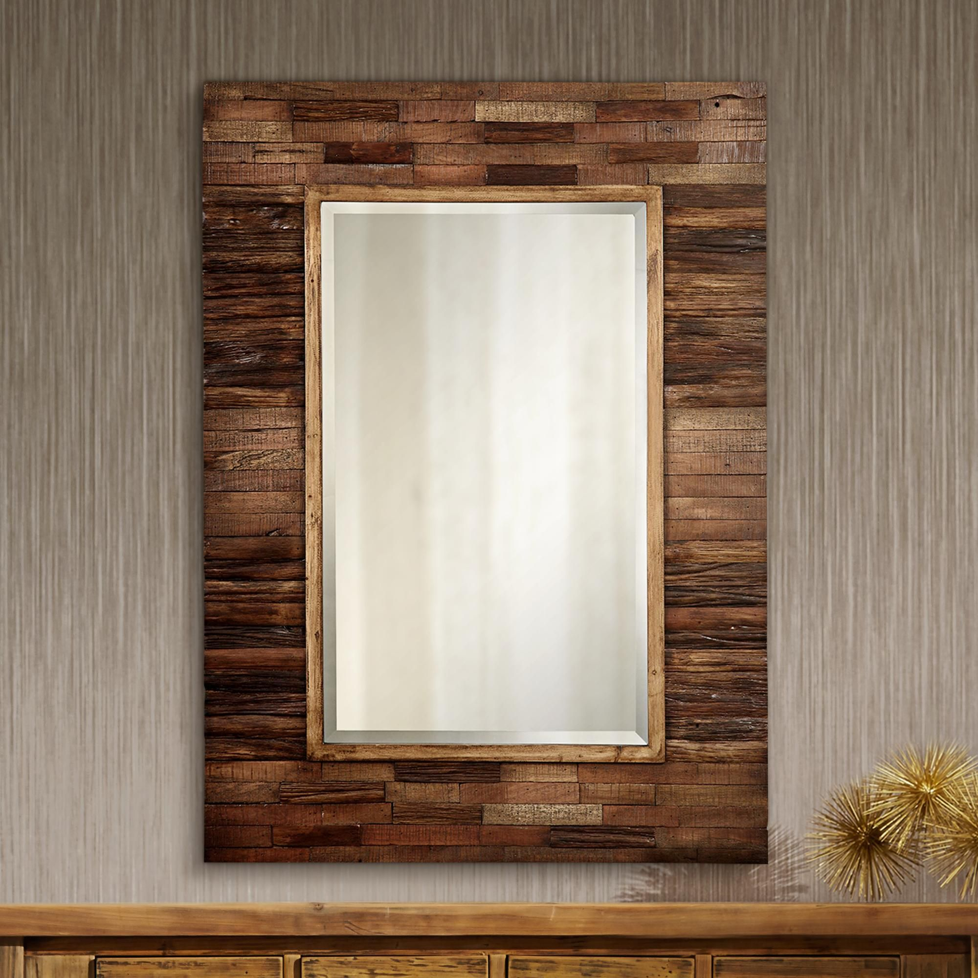 """Cooper Classics Rustic Getaway 30"""" X 40"""" Wall Mirror In 2019 With Regard To Booth Reclaimed Wall Mirrors Accent (Image 4 of 20)"""
