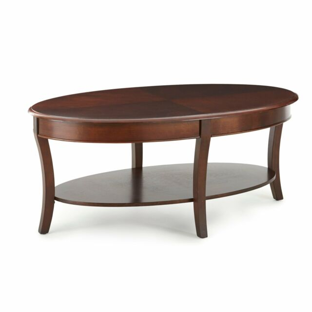Copper Grove Angelina Oval Coffee Table Brown Cherry For Copper Grove Liatris Black And Satin Silver Coffee Tables (View 12 of 25)