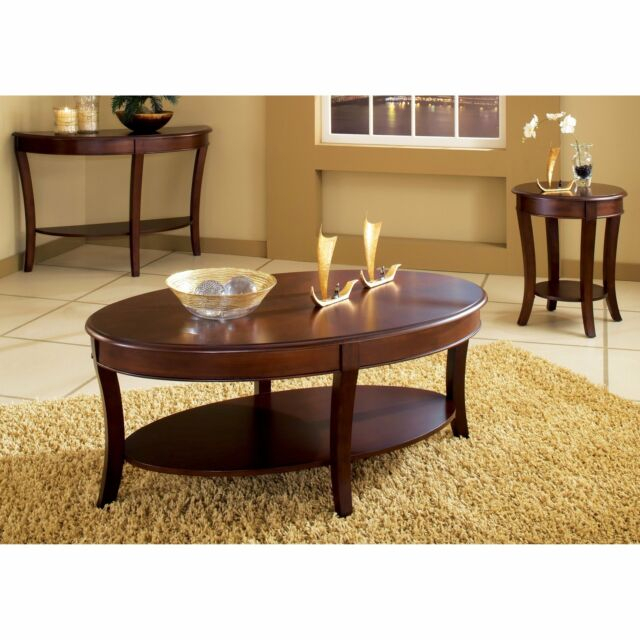 Copper Grove Angelina Oval Coffee Table Brown Cherry Regarding Copper Grove Liatris Black And Satin Silver Coffee Tables (View 11 of 25)