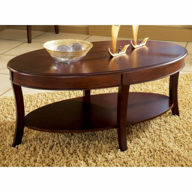 Copper Grove Angelina Oval Coffee Table Brown Cherry With Copper Grove Liatris Black And Satin Silver Coffee Tables (View 5 of 25)
