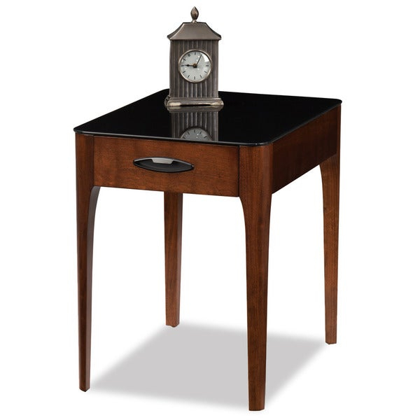 Copper Grove Hemerobsidian Black Tempered Glass Single Drawer End Table With Copper Grove Obsidian Black Tempered Glass Apartment Coffee Tables (View 2 of 25)