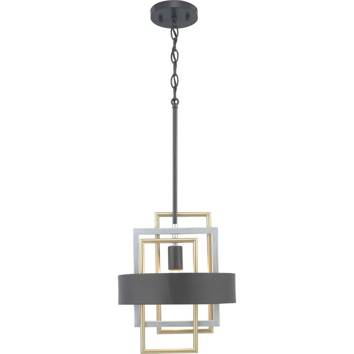Coralie 1 Light Geometric Pendant Pertaining To Callington 1 Light Led Single Geometric Pendants (View 14 of 25)