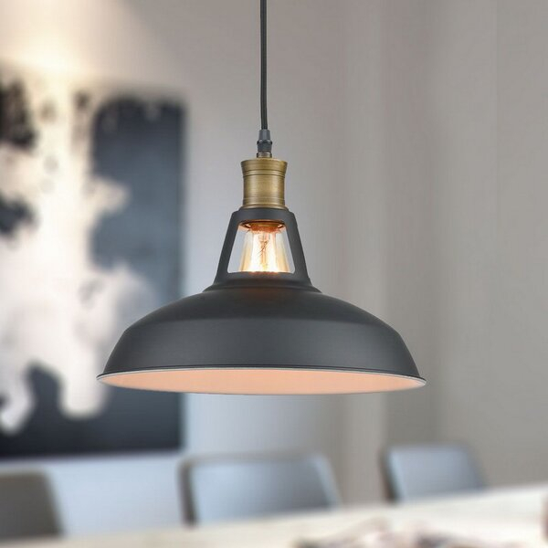 Corded Plug In Hanging Lights You'll Love In 2019 | Wayfair Intended For Adriana Black 1 Light Single Dome Pendants (Image 15 of 25)