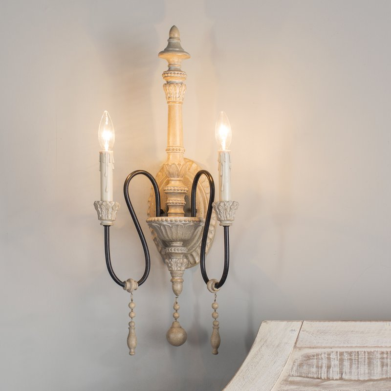 Corneau 2 Light Candle Wall Light Pertaining To Corneau 5 Light Chandeliers (View 12 of 20)