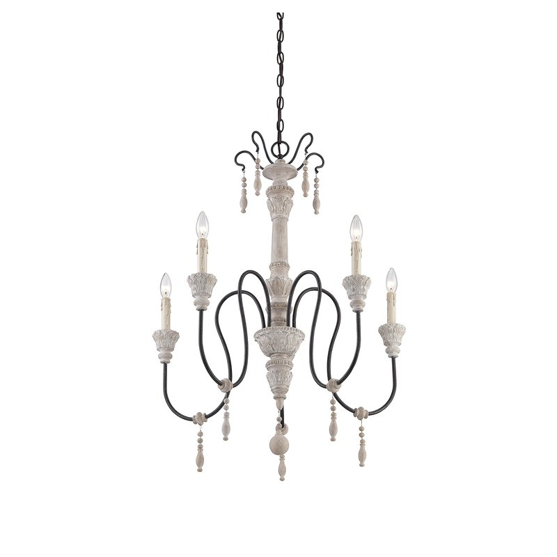 Corneau 5 Light Chandelier Pertaining To Armande Candle Style Chandeliers (Image 15 of 20)
