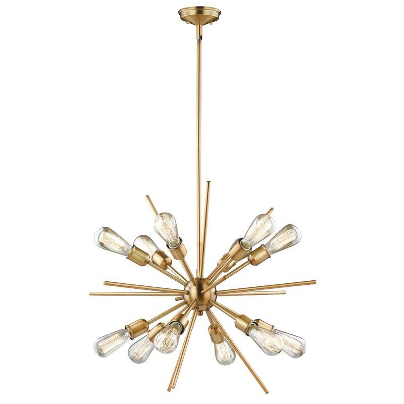 Featured Image of Corona 12 Light Sputnik Chandeliers