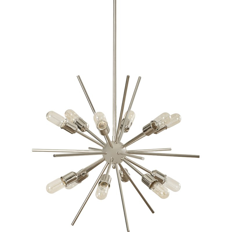 Corona 12 Light Sputnik Chandelier Intended For Corona 12 Light Sputnik Chandeliers (View 5 of 20)