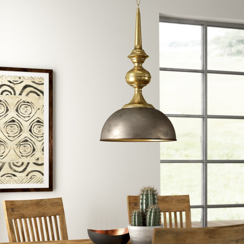 Corrine 1 Light Single Dome Pendant Throughout 1 Light Single Dome Pendants (Image 10 of 25)