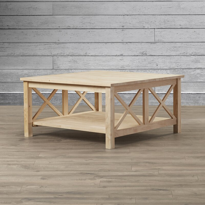 Cosgrave Coffee Table With Storage Pertaining To Unfinished Solid Parawood Square Coffee Tables (View 10 of 25)