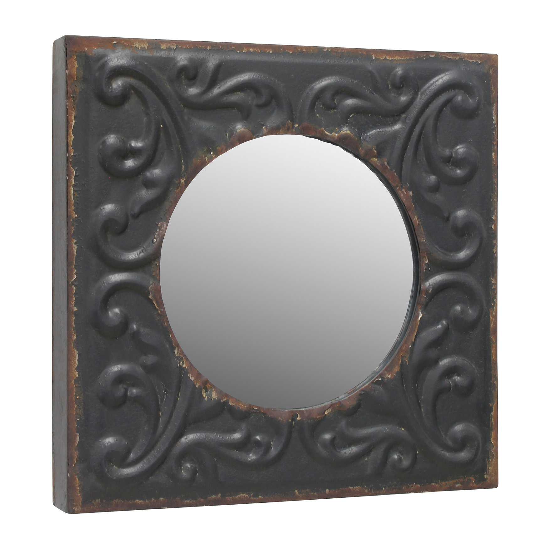 Coulson Metal Accent Wall Mirror With Alissa Traditional Wall Mirrors (View 13 of 20)