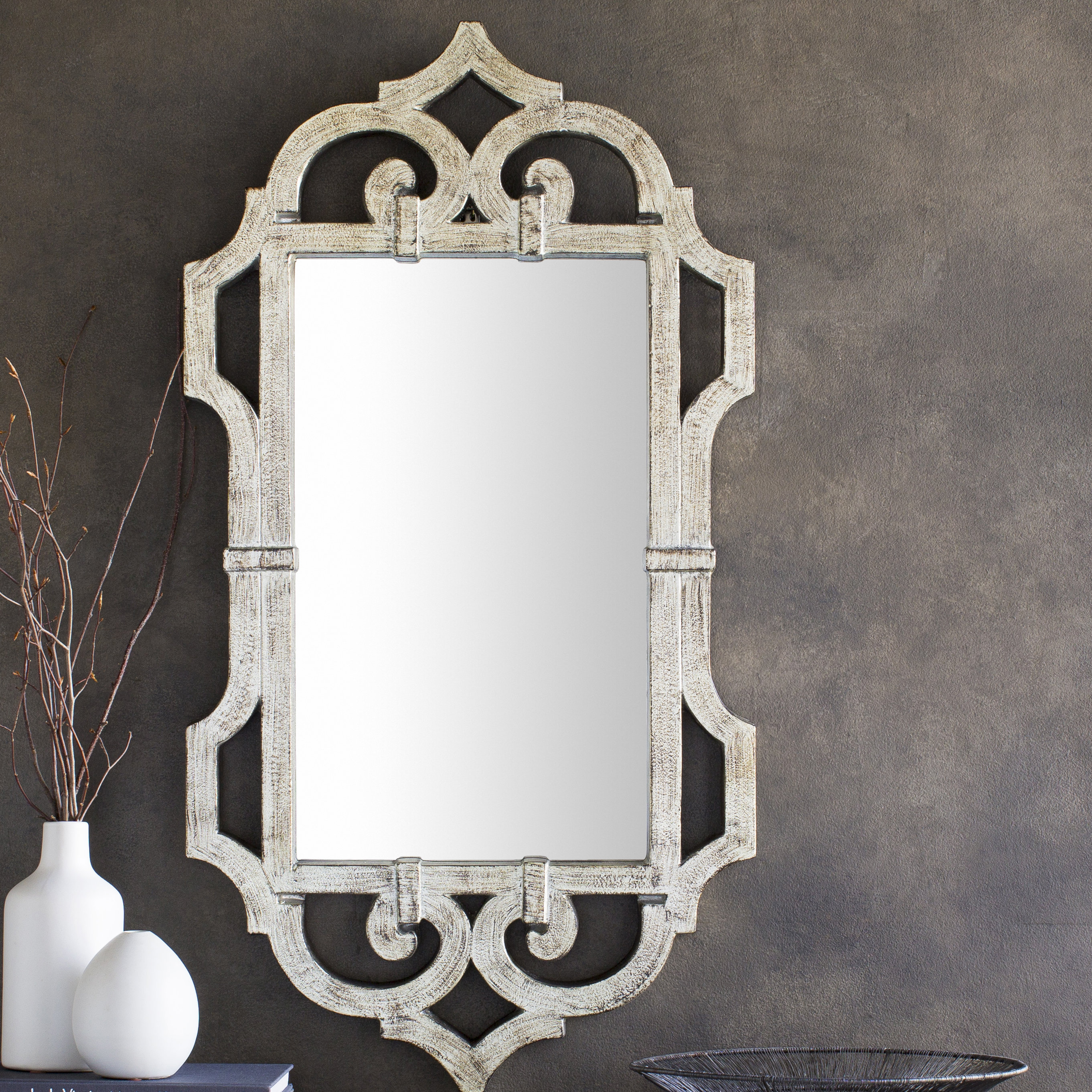Country French Mirror | Wayfair Within Polito Cottage/country Wall Mirrors (Image 4 of 20)