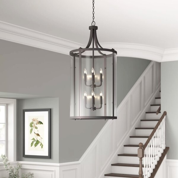 Cowhill 12 Light Lantern Tiered Pendant In Kasey 3 Light Single Drum Pendants (View 19 of 25)