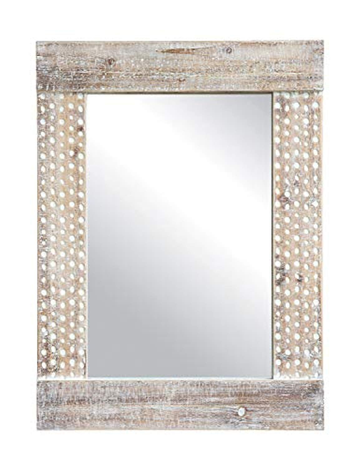 Creative Co Op Da8335 Wall Mirror With White Wash Finish For Abdul Accent Mirrors (View 20 of 20)
