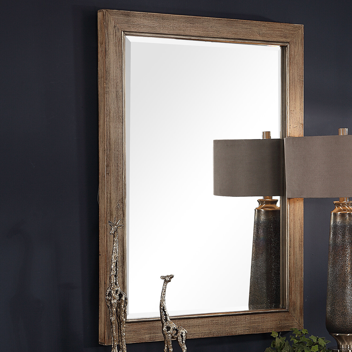Creola Farmhouse Beveled Accent Mirror Within Berinhard Accent Mirrors (Image 8 of 20)