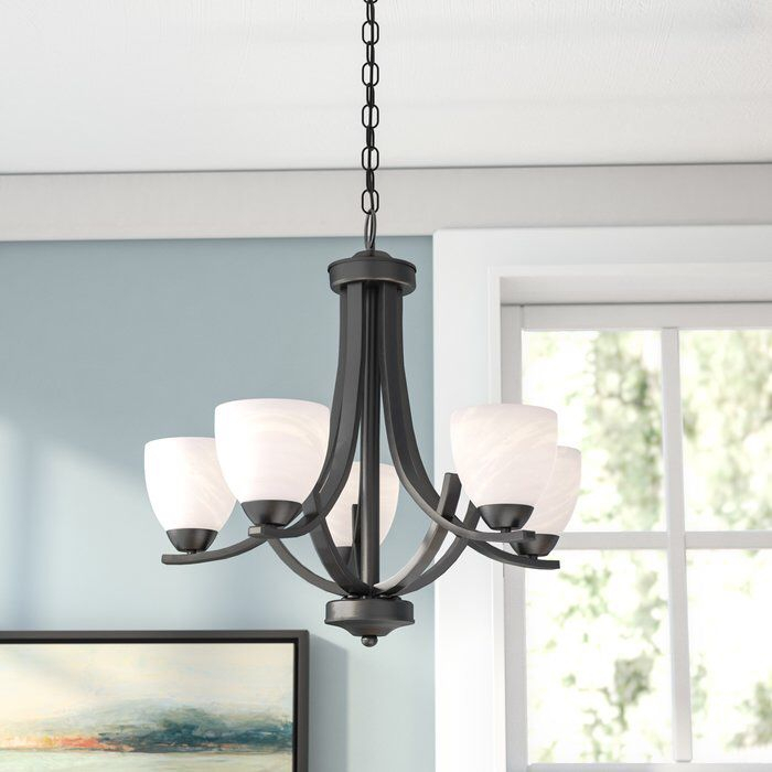Crofoot 5 Light Shaded Chandelier | Dining Room Ideas For Crofoot 5 Light Shaded Chandeliers (View 4 of 20)