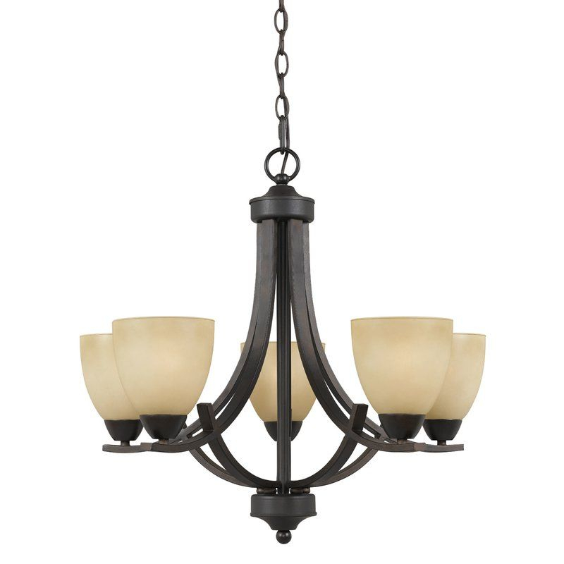 Crofoot 5 Light Shaded Chandelier In 2019 | Let There Be Pertaining To Crofoot 5 Light Shaded Chandeliers (View 2 of 20)