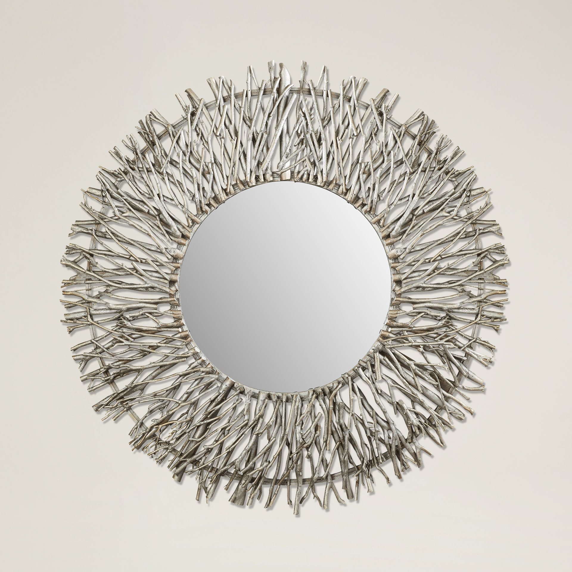 Cromartie Tree Branch Wall Mirror With Karn Vertical Round Resin Wall Mirrors (Image 3 of 20)