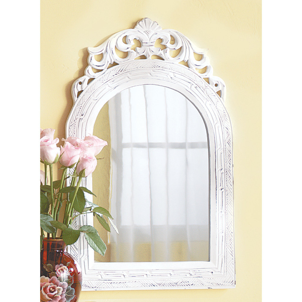 Crown Arch Mirror | Wayfair Inside Arch Top Vertical Wall Mirrors (Image 7 of 20)