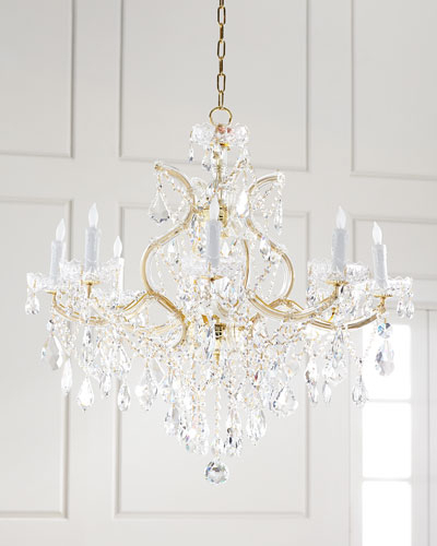 Crystal Chandelier Lighting | Horchow Inside Thresa 5 Light Shaded Chandeliers (View 20 of 20)
