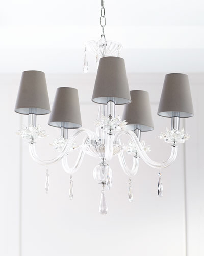 Crystal Chandelier Lighting | Horchow Pertaining To Von 4 Light Crystal Chandeliers (Image 4 of 20)