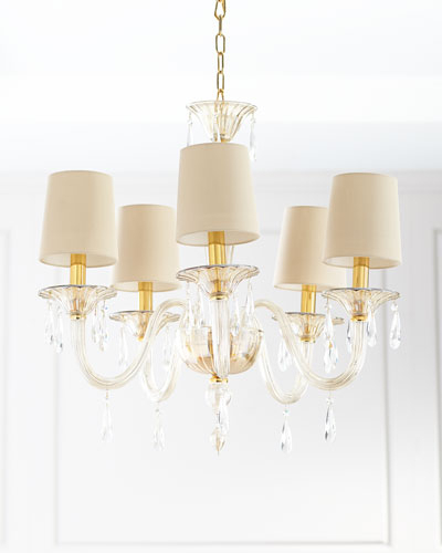 Crystal Chandelier Lighting | Horchow Throughout Thresa 5 Light Shaded Chandeliers (View 15 of 20)