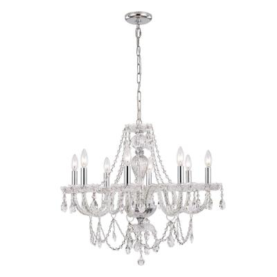 Crystal – Chandeliers – Lighting – The Home Depot With Verdell 5 Light Crystal Chandeliers (Image 8 of 20)