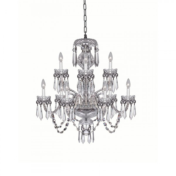 Crystal Chandeliers & Lighting – Waterford® Us For Watford 9 Light Candle Style Chandeliers (Image 4 of 20)