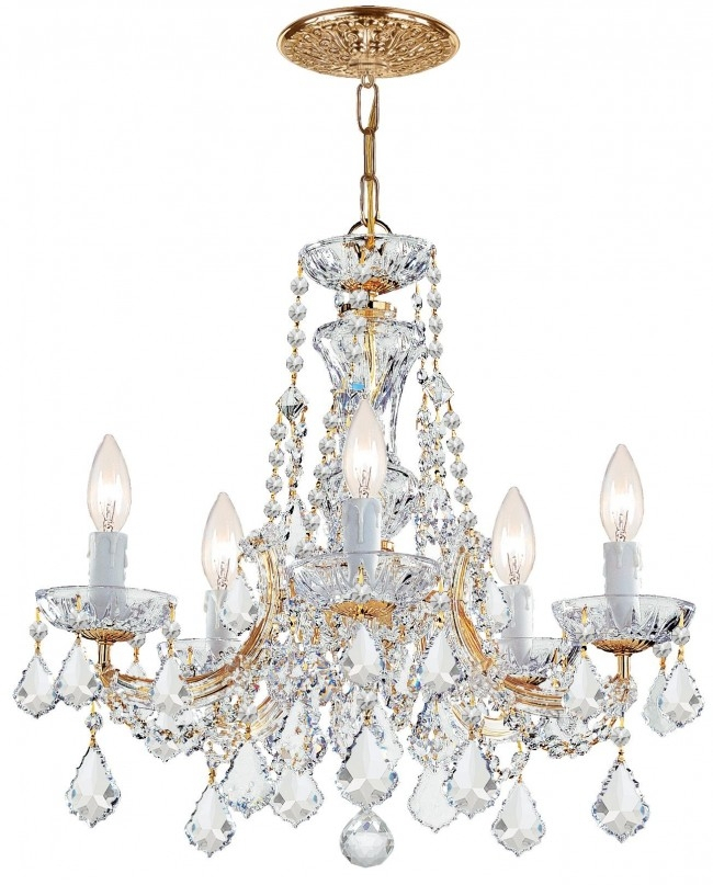 Crystal Chandeliers, Modern And Classic Swarovksi Crystal Pertaining To Thresa 5 Light Shaded Chandeliers (View 17 of 20)
