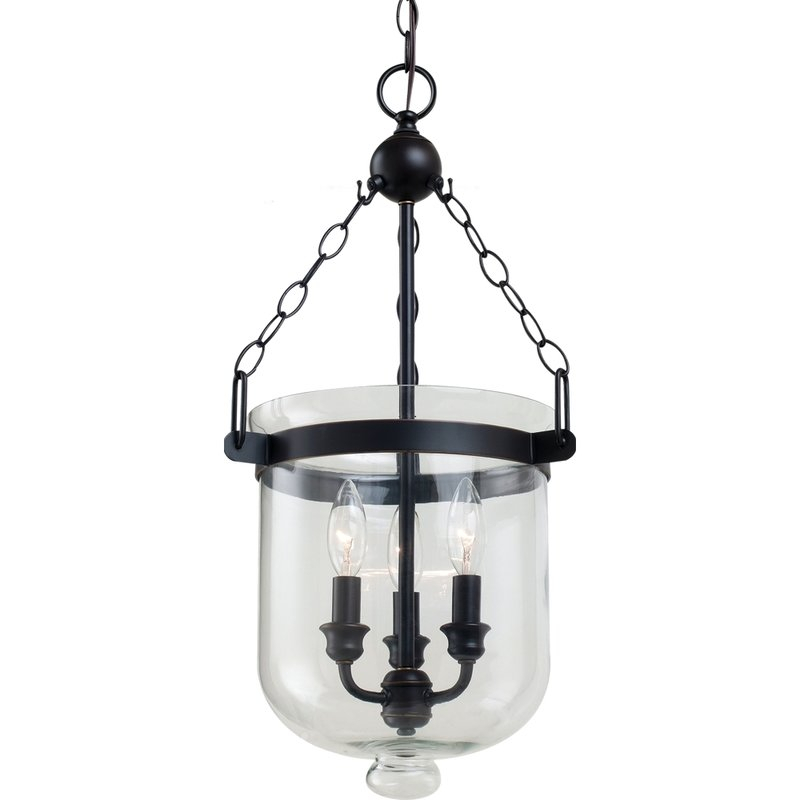 Cuffee 3 Light Single Urn Pendant Inside 3 Light Single Urn Pendants (Image 11 of 25)