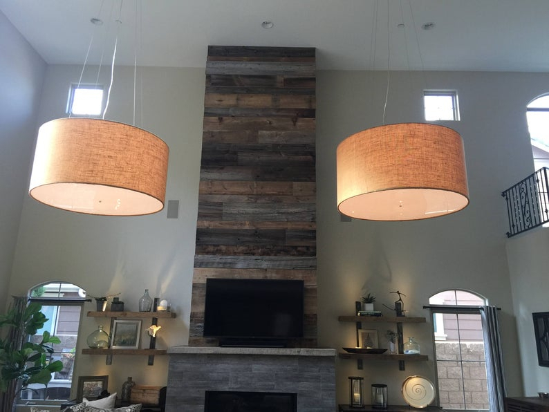 Custom 48 Inch Extra Large Drum Pendant Light Fixture Pertaining To Jill 4 Light Drum Chandeliers (Image 9 of 20)
