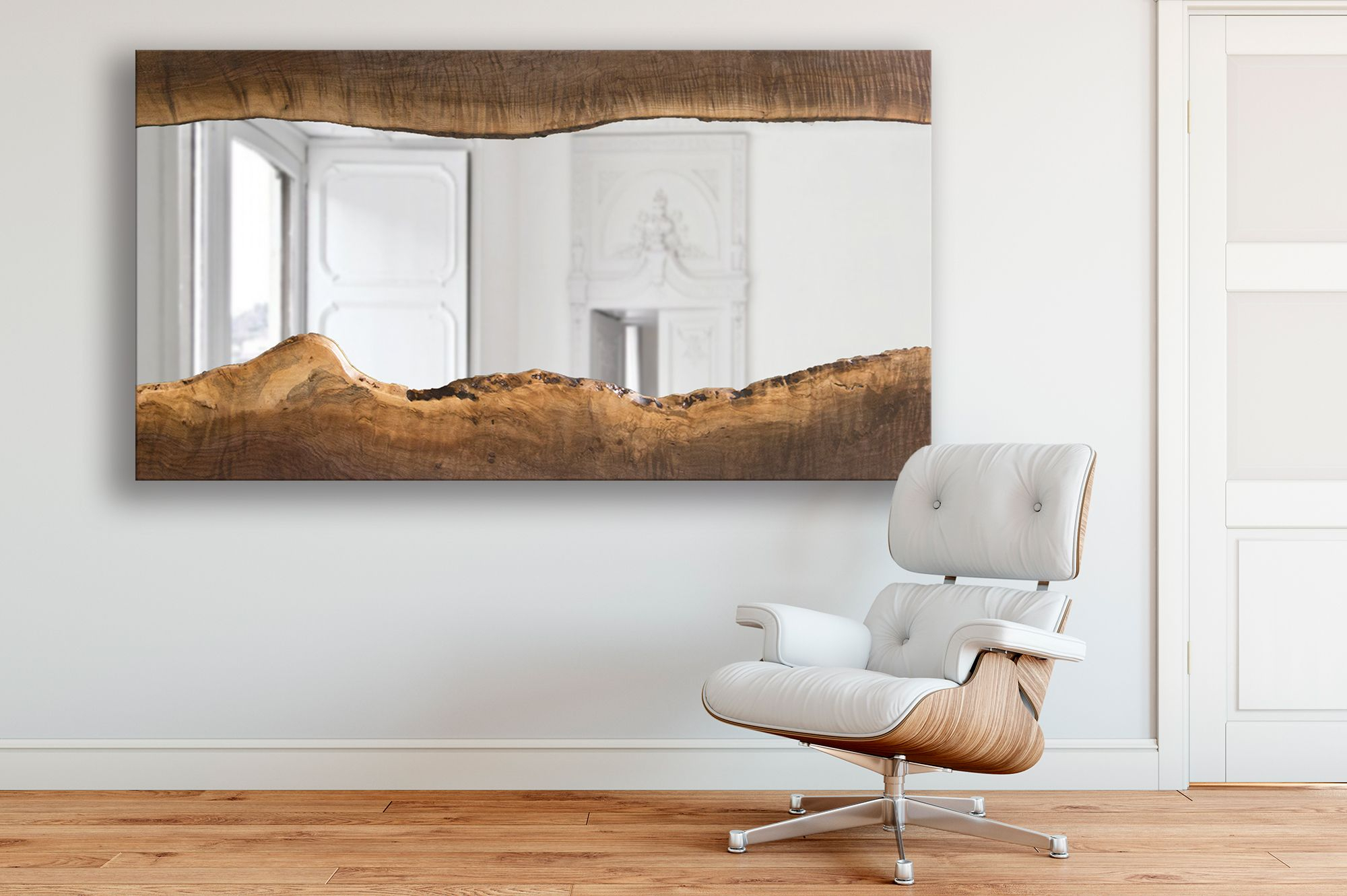 Custom Made Henry – Black Walnut Live Edge Wood Mirror With Walnut Wood Wall Mirrors (Image 8 of 20)
