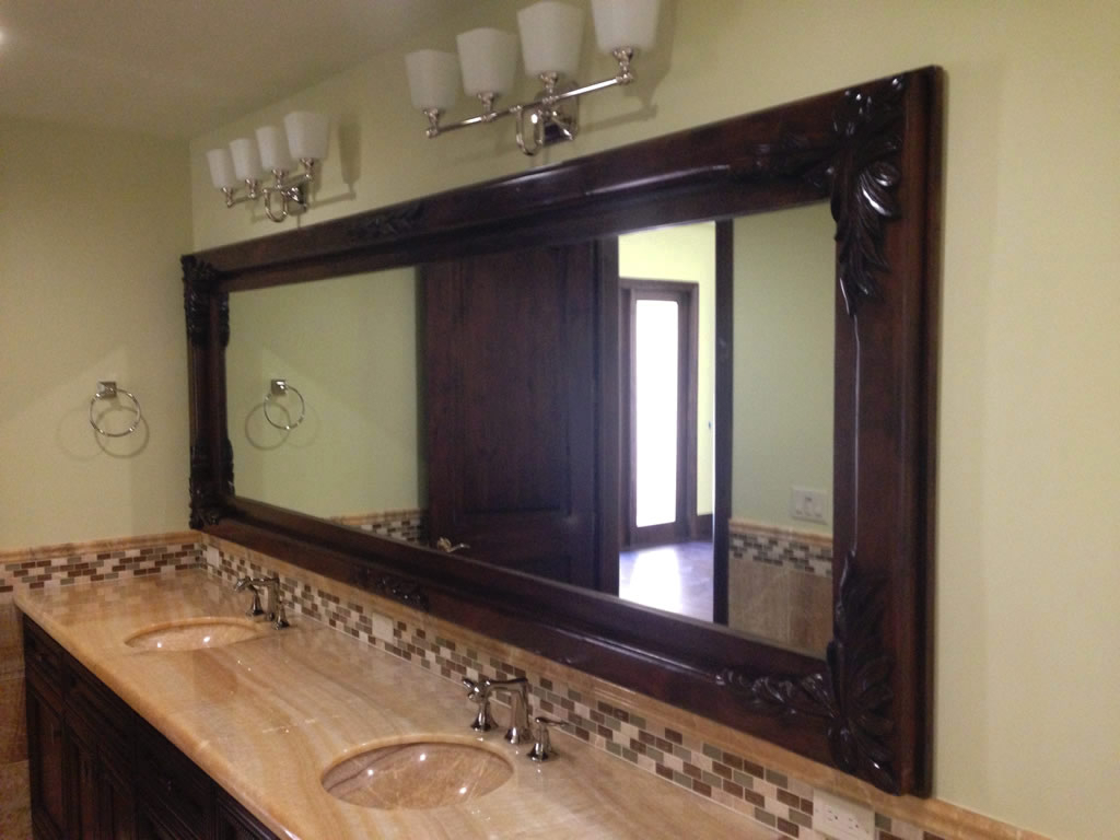 Custom Wood Framed Mirrors – Patriot Glass And Mirror | San Within Custom Mirrors (Image 17 of 20)