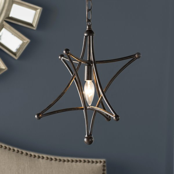 Cynthia 1 Light Single Star Pendant Regarding 1 Light Single Star Pendants (Image 16 of 25)